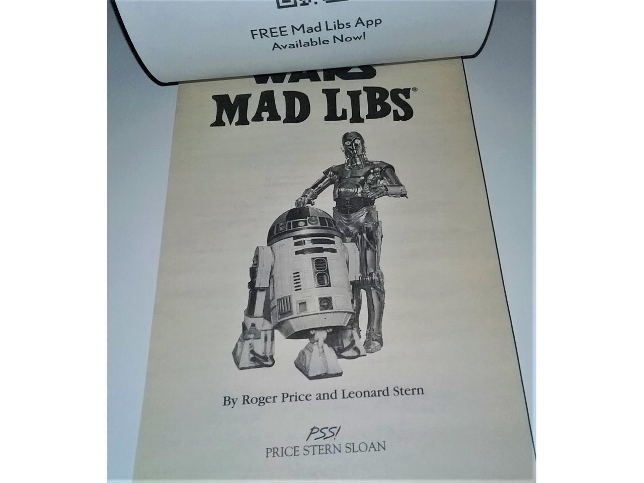 "2008 LFL ""Star Wars Mad Libs"" Book - 48 Pages"